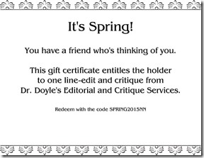 Sample Spring Gift Certificate SmallPic