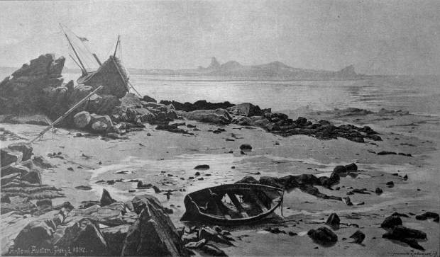 Antoni Austen, Low Tide After a Storm, 1892, Salon des Champs-Elysées 1892