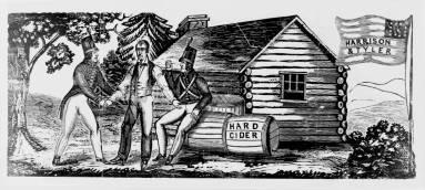 Log cabin hard cider campaign of 1840