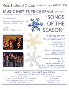 Songs of the Seasons flyer
