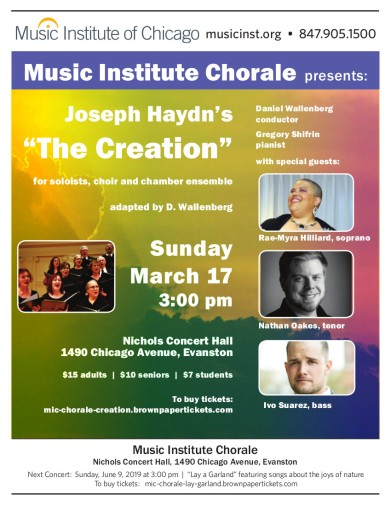 Sunday, March 17th, 3:00 pm Nichols Concert Hall 1490 Chicago Avenue, Evanston